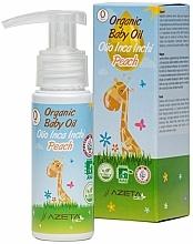Perfumería y cosmética Aceite corporal orgánico con inca inchi para bebés - Azeta Bio Organic Baby Peach Oil Inca Inchi