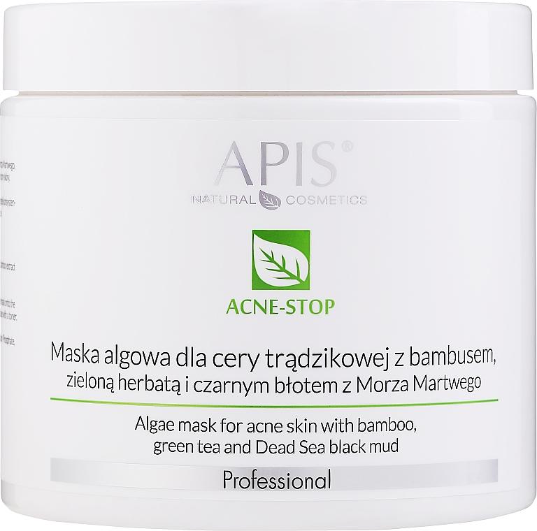 Mascarilla facial con algas y barro negro de Mar Muerto - APIS Professional Algae Mask For Acne Skin