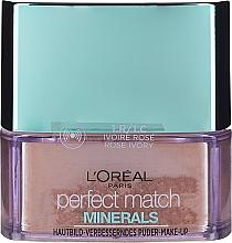 Perfumería y cosmética Polvo de maquillaje mineral con arcilla caolín y zinc - L'Oreal Paris Perfect Match Minerals Make-Up Powder