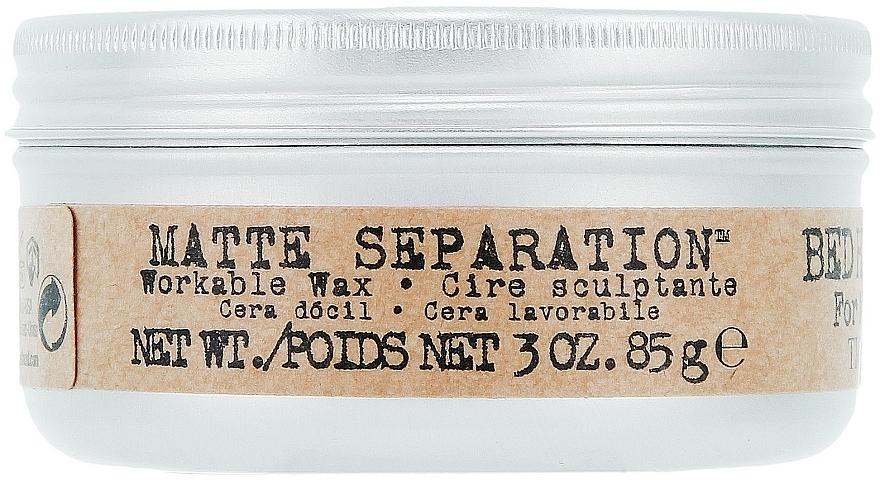 Cera moldeadora de fijación firme y acabado mate - Tigi B For Men Matte Separation Workable Wax