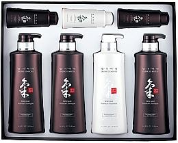 Perfumería y cosmética Set - Daeng Gi Meo Ri Ki Gold Hair Care Set (champú/3uds.x500ml + acondicionador/500ml + champú/2uds.x70ml + acondicionador/70ml)