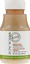 Leche para peinar el cabello con infusión de miel y avena - Biolage R.A.W. Smoothing Styling Milk — imagen N1