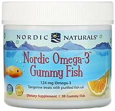 Perfumería y cosmética Complemento alimenticio con sabor a mandarina Omega 3, 124 mg - Nordic Naturals Gummy Fish