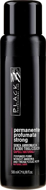 Loción perfumada para permanente rizada sin amoníaco - Black Professional Line, Strong