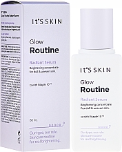 Perfumería y cosmética Sérum facial con ácido fólico y extracto de sauce - It's Skin Glow Routine Radiant Serum