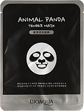 Perfumería y cosmética Mascarilla facial de tejido con extracto de levadura y avena - Bioaqua Animal Panda Tender Mask