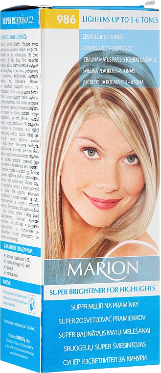 Decolorante hasta 6 tonos con proteína de seda №986 - Marion Super Brightener