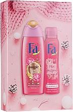 Perfumería y cosmética Set - Fa Pink Passion (gel de ducha/250ml + deo spray/150ml)