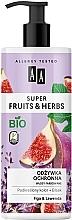 Perfumería y cosmética Acondicionador de cabello con extracto de higo y lavanda, bio - AA Super Fruits & Herbs Conditioner Fig & Lavender
