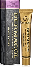 Perfumería y cosmética Base de maquillaje antiimperfecciones de alta cobertura, resistente al agua SPF 30 - Dermacol Make-Up Cover