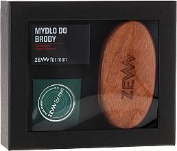 Perfumería y cosmética Set cuidado de barba (jabón, aceite y cepillo) - Zew For Men Set (oil/30ml + soap/85ml + brush)