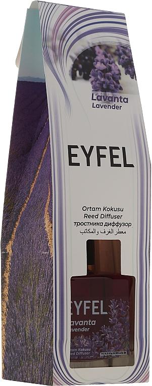 Ambientador Mikado con aroma a lavanda - Eyfel Perfume Reed Diffuser Flower