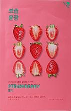 Perfumería y cosmética Mascarilla facial de tejido con extracto de fresa - Holika Holika Pure Essence Mask Strawberry