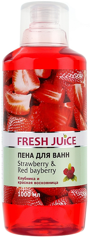 Espuma de baño con aroma a fresa - Fresh Juice Strawberry and Red Bayberry
