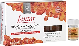 Perfumería y cosmética Tratamiento reparador capilar con extracto de ámbar - Farmona Jantar Hair Treatment In Ampoules