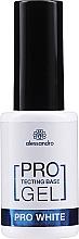 Perfumería y cosmética Base coat, UV/LED - Alessandro International Protectig Base Gel Pro White