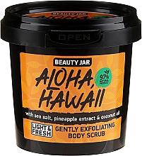 Perfumería y cosmética Exfoliante corporal natural con extracto de piña y aceite de coco - Beauty Jar Aloha Hawaii Gently Exfoliating Body Scrub