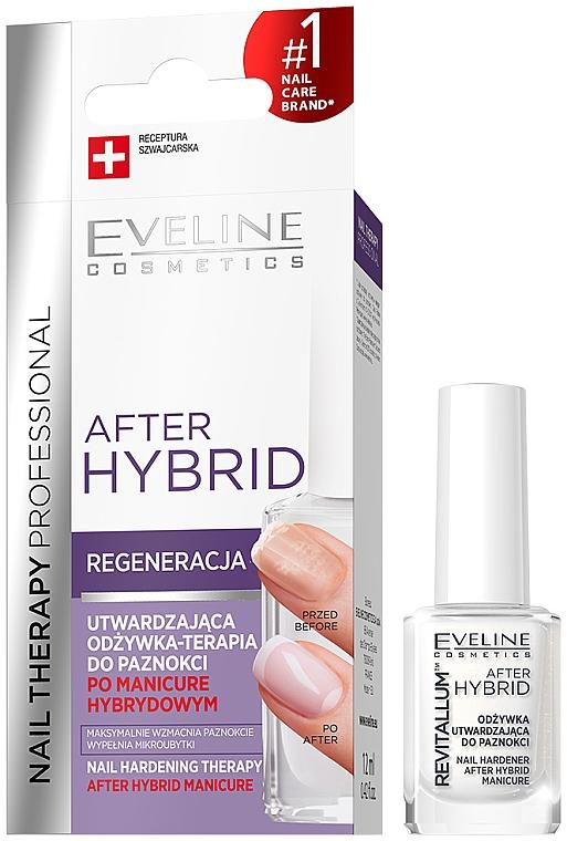 Bálsamo fortalecedor para uñas - Eveline Cosmetics After Hybrid Manicure