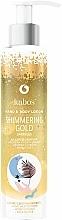 Perfumería y cosmética Loción para manos y cuerpo ''Oro Reluciente'' - Kabos Shimmering Gold Hand & Body Lotion
