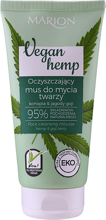 Espuma de limpieza facial con aceite de cáñamo y glicerina - Marion Vegan Hemp Hemp & Goji Face Cleansing Mousse