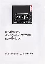 Perfumería y cosmética Toallitas de higiene íntima con ácido láctico y extracto de algas negras - Ziaja Med
