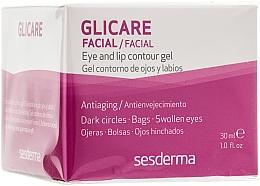 Perfumería y cosmética Gel antienvejecimiento para contorno de ojos y labios con aceite de ricino - SesDerma Laboratories Glycare Eye and Lip Contour Gel