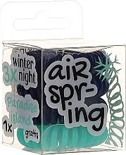Perfumería y cosmética Gomas de pelo azul oscuro+ turquesa, 4 uds. - Hair Springs
