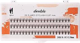 Perfumería y cosmética Pestañas postizas individuales - Ibra 20 Flares Eyelash Knot Free Naturals C 8mm