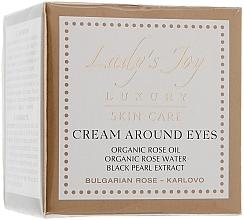 Perfumería y cosmética Crema contorno de ojos con aceite orgánico de rosa & extracto de perla negra - Bulgarian Rose Lady's Joy Luxury