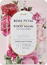 Perfumería y cosmética Mascarilla calcetines con niacinamida y esencia de soufflé - Petitfee&Koelf Rose Petal Satin Foot Mask
