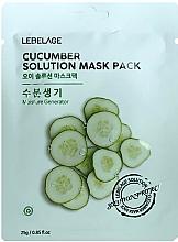 Perfumería y cosmética Mascarilla facial con extracto de pepino - Lebelage Cucumber Solution Mask
