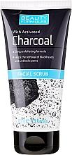 Perfumería y cosmética Exfoliante facial con carbón activado - Beauty Formulas Charcoal Facial Scrub