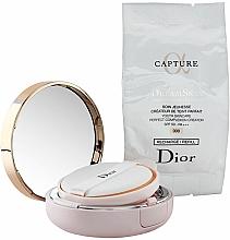Perfumería y cosmética Base de maquillaje cushion antienvejecimiento con efecto mate, SPF 50 - Dior Capture Dreamskin Moist & Perfect Cushion SPF 50 PA+++ (2 x 15 g)