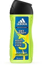 Perfumería y cosmética Adidas Get Ready for Him - Champú gel de ducha con extractos cítricos