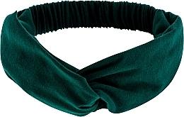 """Perfumería y cosmética Cinta de pelo, de tela, esmeralda """"Knit Twist"""" - MakeUp Hair Accessories"""