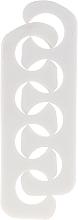 Perfumería y cosmética Separadores de espuma para pedicura, 7583, blanco - Top Choice