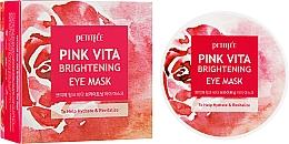 Perfumería y cosmética Parches iluminadores para contorno de ojos con extracto de raíz de remolacha - Petitfee&Koelf Pink Vita Brightening Eye Mask