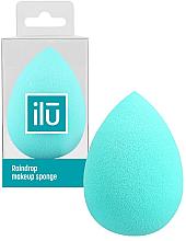 Perfumería y cosmética Esponja de maquillaje, turquesa - Ilu Sponge Raindrop Turquoise