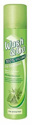 Champú seco en spray con extracto de aloe vera para cabello graso - Wash&Go