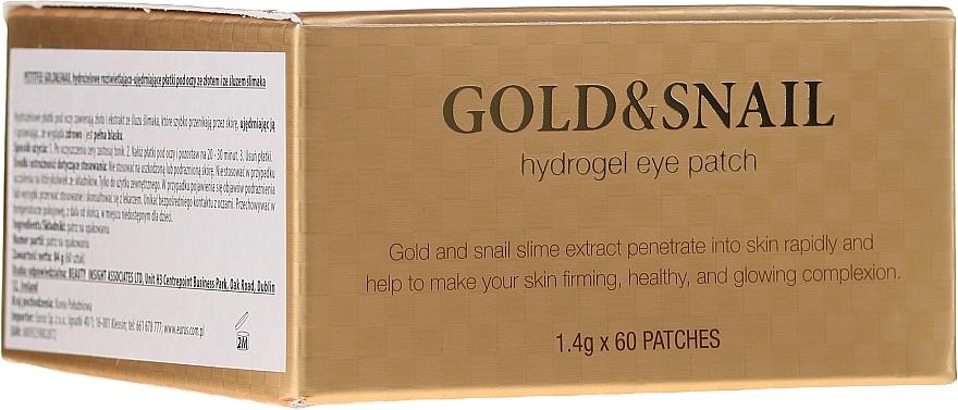 Parches para contorno de ojos de hidrogel con oro, baba de caracol y colágeno - Petitfee & Koelf Gold & Snail Hydrogel Eye Patch