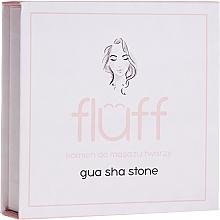 Perfumería y cosmética Masajeador facial de cuarzo rosa - Fluff Gua Sha Stone