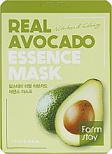 Perfumería y cosmética Mascarilla facial de tejido con extracto de aguacate - FarmStay Real Avocado Essence Mask