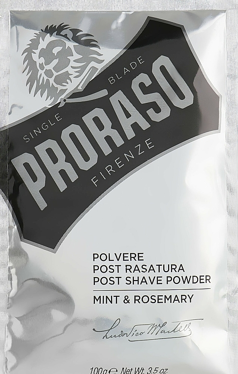 Proraso Mint & Rosemary Post Shave Powder - Polvo after shave con menta & romero