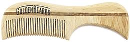 Perfumería y cosmética Peine artesanal de madera para bigote, 7,5cm - Golden Beards Eco Moustache Comb