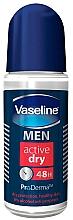 Perfumería y cosmética Desodorante roll-on antitranspirante, sin alcohol - Vaseline Men Active Dry 48H Roll-On Deodorant