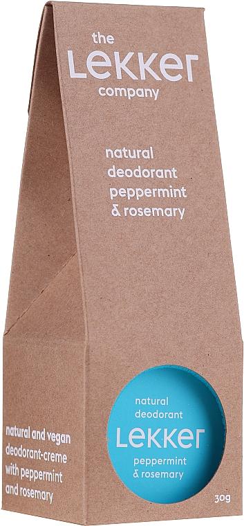 Crema desodorante natural con aceite de menta y romero - The Lekker Company Natural Deodorant