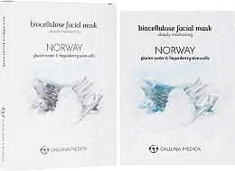 Perfumería y cosmética Mascarilla facial profundamente hidratante de biocelulosa - Calluna Medica Norway Deeply Moisturizing Biocellulose Facial Mask