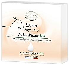 Perfumería y cosmética Jabón de leche de burra orgánica con manteca de karité, sin parabenos - Galeo Soap Organic Donkey Milk