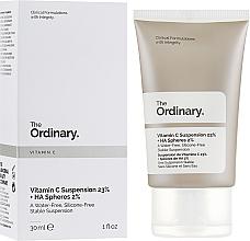 Perfumería y cosmética Sérum facial con 23% vitamina C y 2% ácido hialurónico - The Ordinary Vitamin C Suspension 23% + HA Spheres 2%
