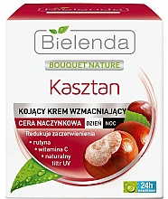 Perfumería y cosmética Crema facial calmante con vitamina E y extracto de castaña - Bielenda Chestnut Cream Day / Night